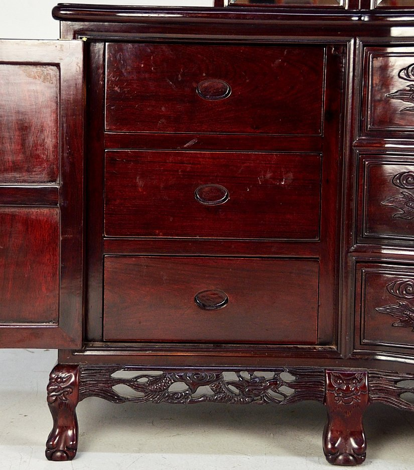 221A: ROSEWOOD DRESSER WITH MIRROR - 9