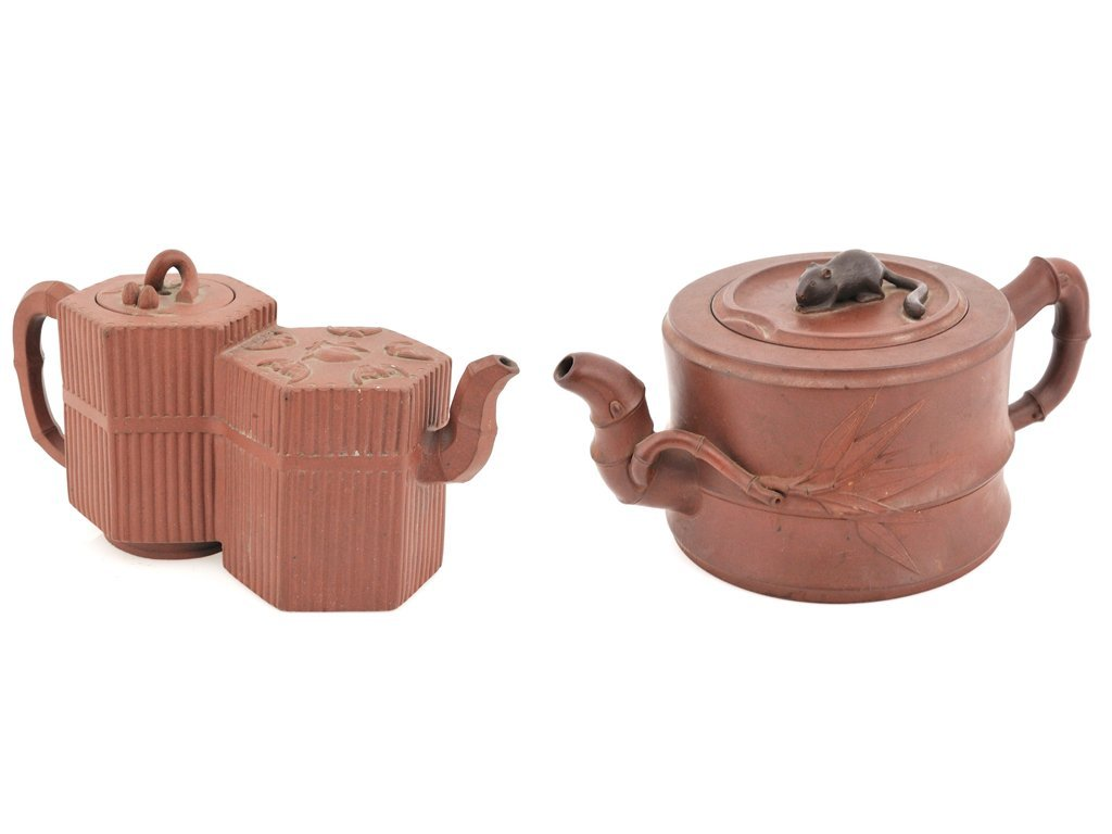 11: TWO CHINESE CEREMONIAL TEA POTS