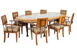 133: CUSTOM MADE DINING ROOM TABLE WITH EIGHT CHAIRS