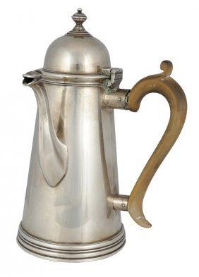 A GEORGE III STERLING SILVER COFFEE POT London, Circ