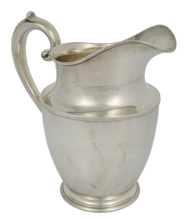 7: A WALLACE STERLING SILVER FOOTED PITCHER American, 2