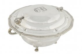 A LARGE SANBORNS .925 STERLING SILVER TUREEN AND CO
