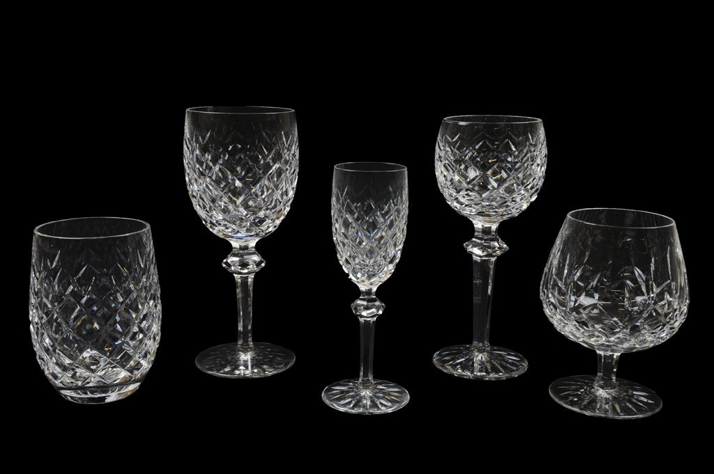 24: A 48 PIECE SET OF WATERFORD CUT CRYSTAL STEM AND BA