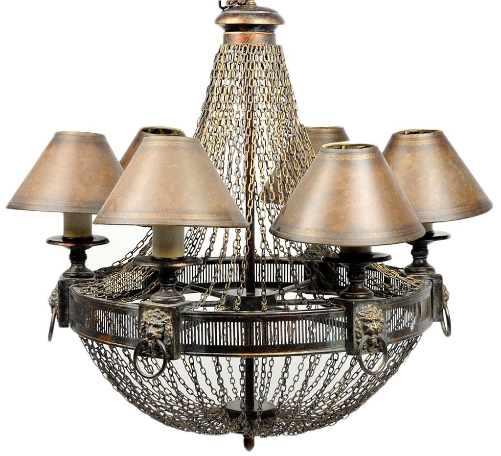 20: A SIX LIGHT FRENCH NEO CLASSIC STYLE BALLOON CHANDE