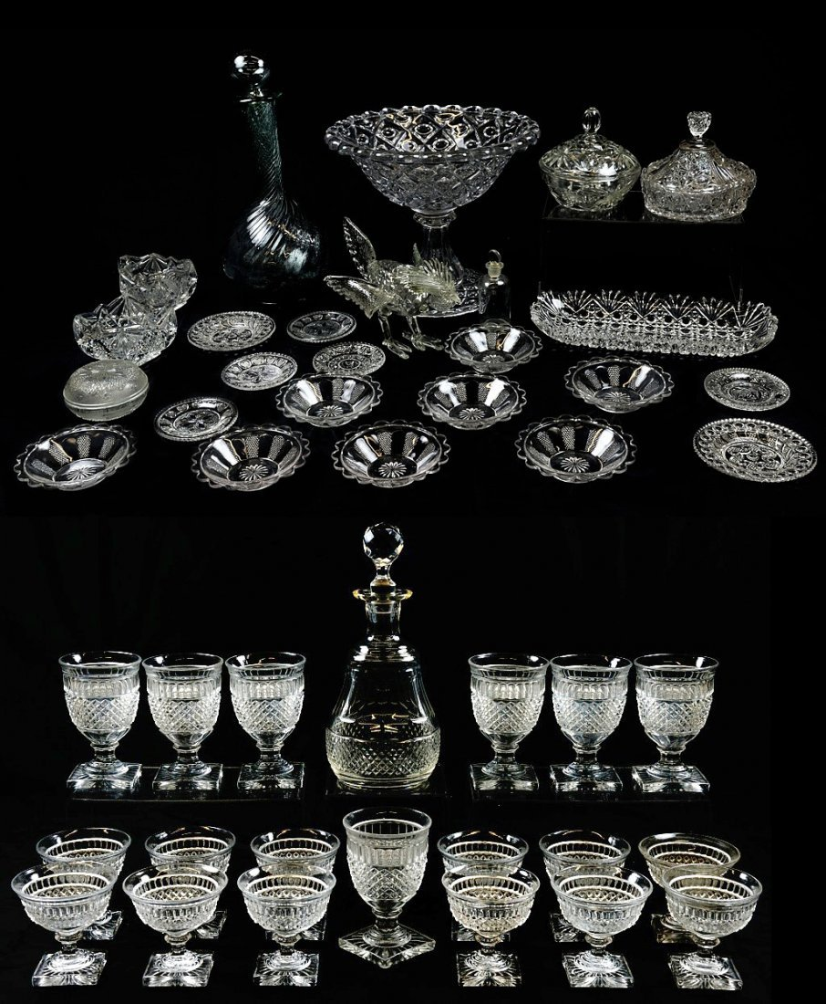 13: A LOT OF 45 PIECES OF GLASS TABLEWARE