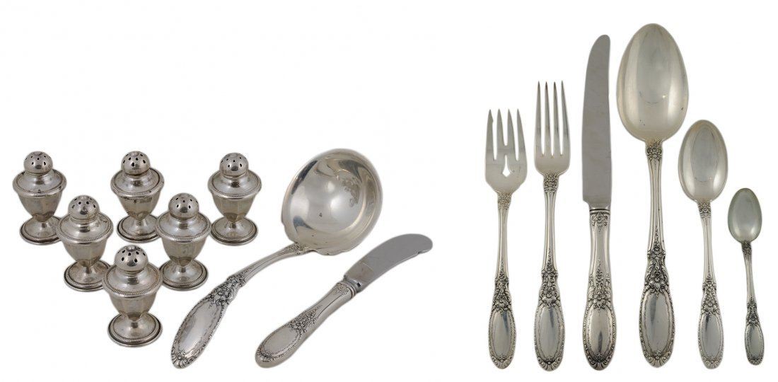 """17: TOWLE """"OLD MASTER"""" STERLING SILVER SERVICE FOR EIGH"""