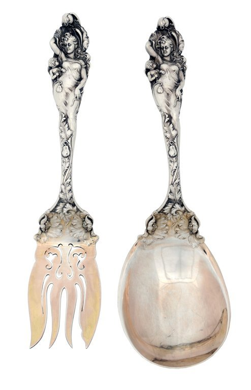 1:TWO ANTIQUE REED AND BARTON STERLING SILVER SERVING