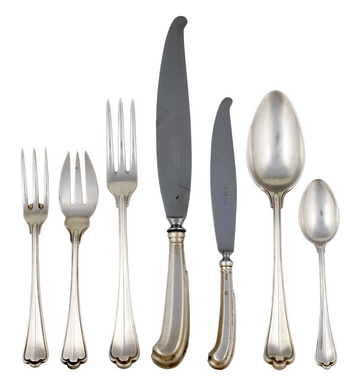 4: A 95 PIECE SET OF ITALIAN SAN MARCO .800 STERLING SI