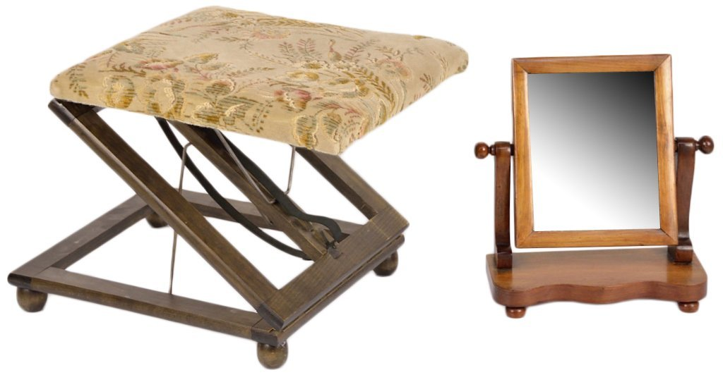 2: DRESSING MIRROR AND STOOL