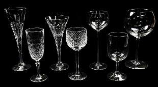 47 PIECES CRYSTAL AND GLASS STEMWARE