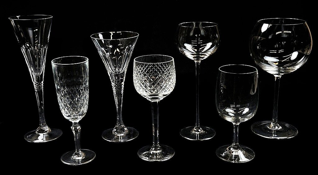 6: 47 PIECES CRYSTAL AND GLASS STEMWARE