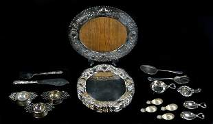 27 PIECES OF SILVERPLATE