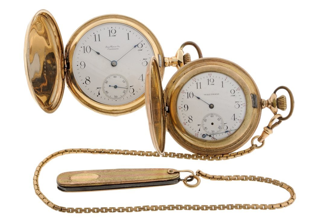 12: TWO ANTIQUE POCKET WATCHES