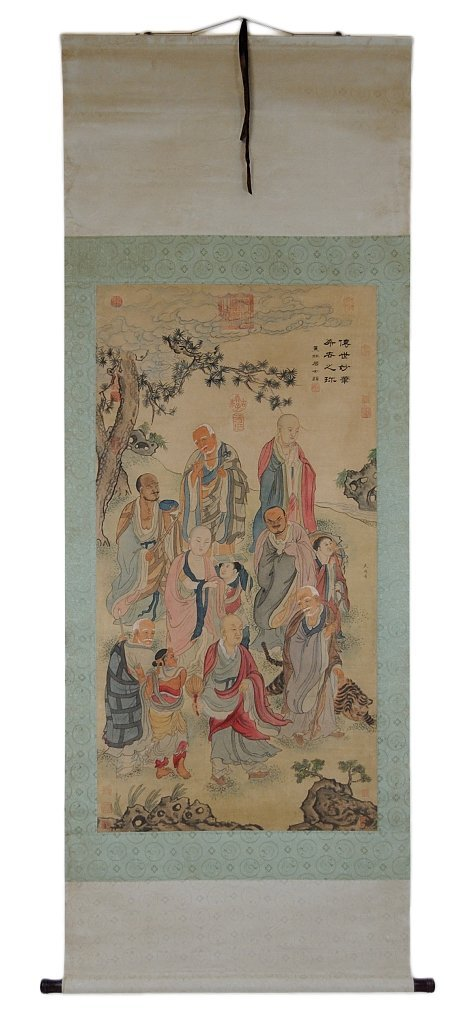 19: AN ANTIQUE CHINESE PAINTED SCROLL