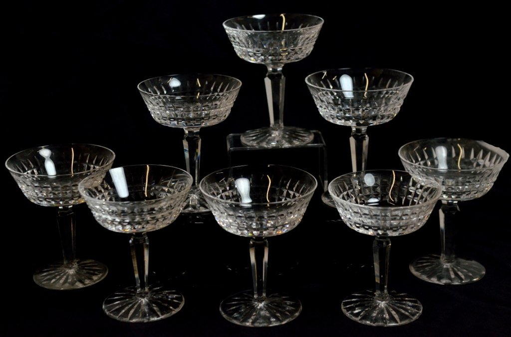 2: EIGHT WATERFORD CRYSTAL SAUCER CHAMPAGNES