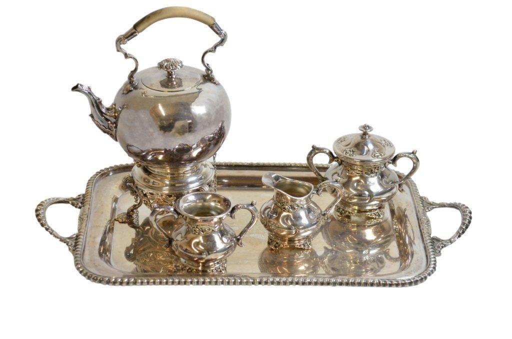 10A: A FIVE-PIECE SILVERPLATE TEA SET