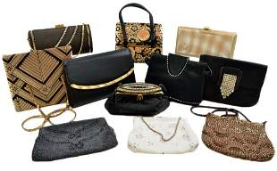 A GROUP OF ELEVEN EVENING BAGS