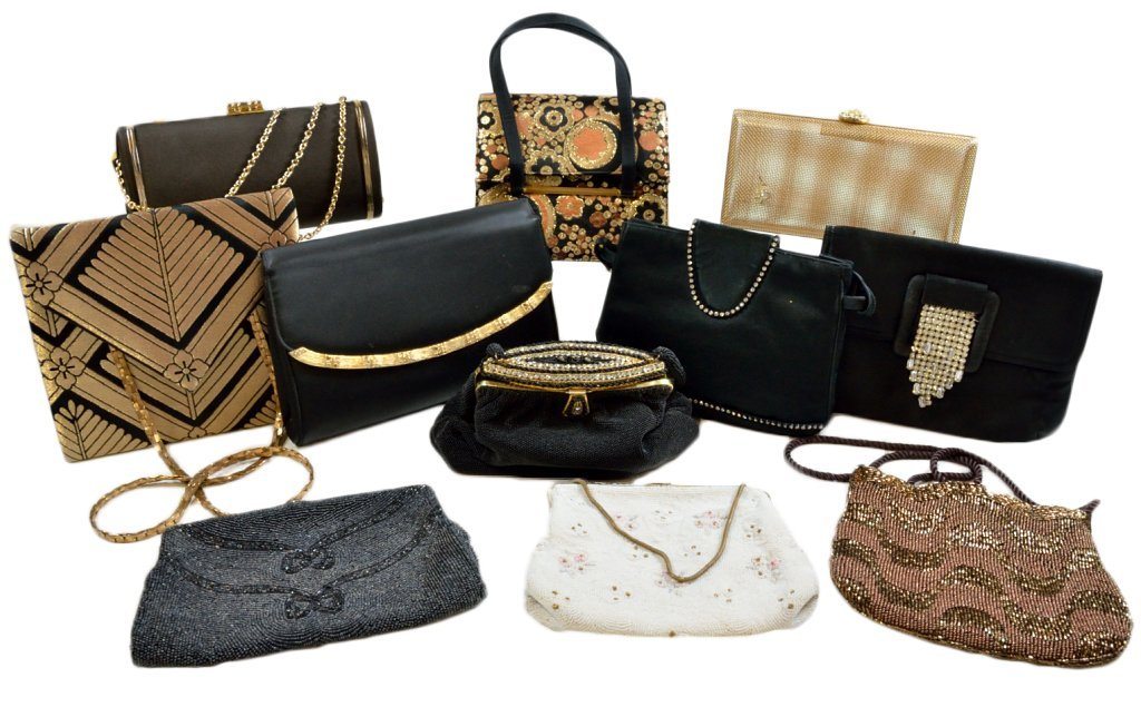 3: A GROUP OF ELEVEN EVENING BAGS