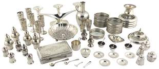 67 PIECES OF STERLING SILVER TABLE ITEMS Various mak