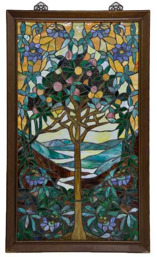 """""""L' ORANGERIE"""" STAINED GLASS PANEL"""