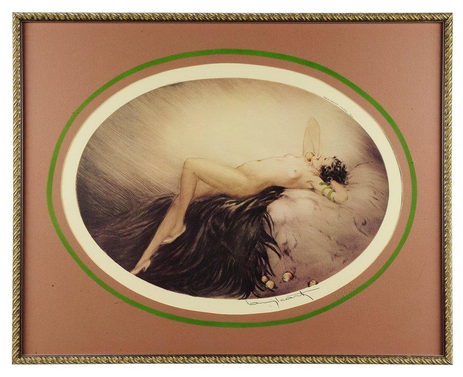 20: LOUIS ICART , French, (1888 - 1950)., NUDE RECLININ
