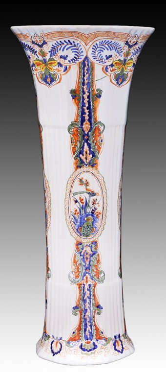 23: A TALL TIFFANY PORCELAIN VASE MADE BY LIMOGES Franc