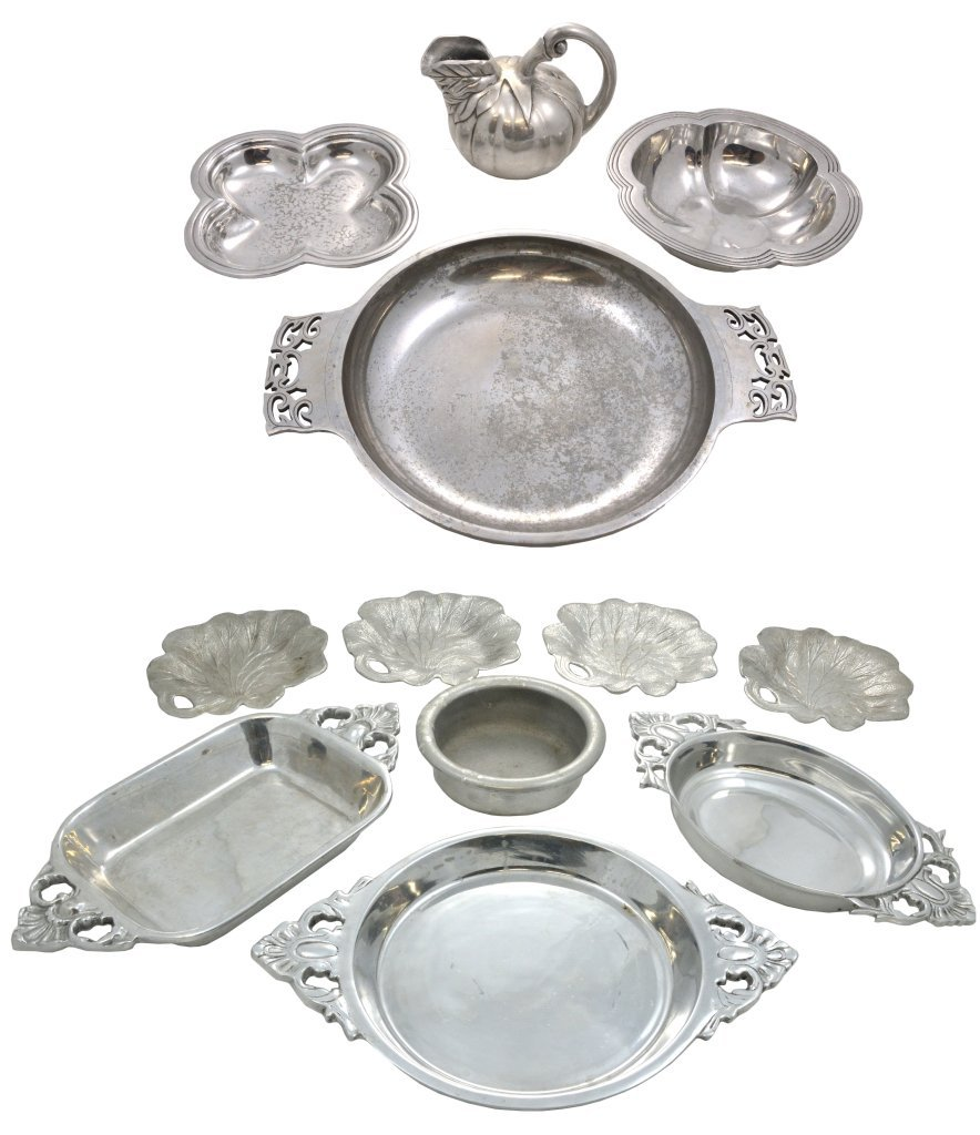 5: A GROUP OF MEXICAN AND ASIAN PEWTER