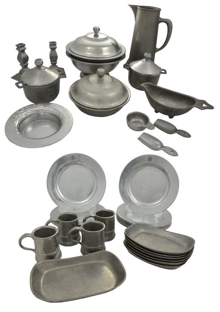 8: A GROUP OF WILTON PEWTER