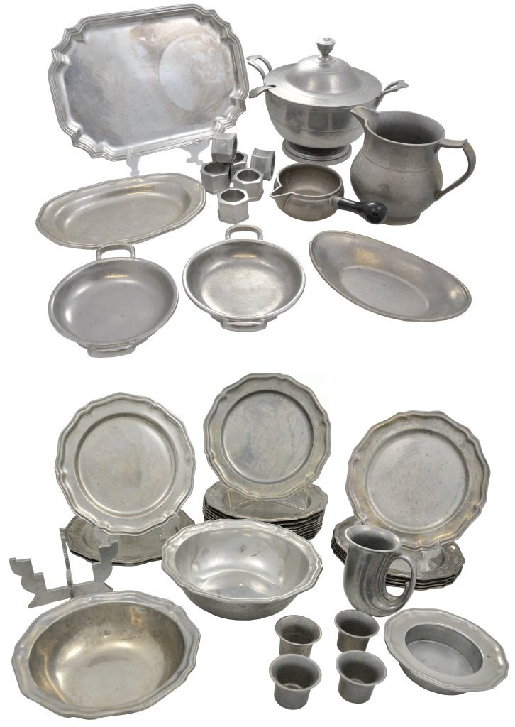 9: A GROUP OF WILTON PEWTER
