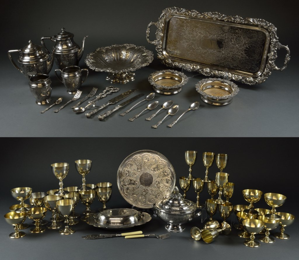 6: GROUP ANTIQUE AND VINTAGE SILVER PLATE