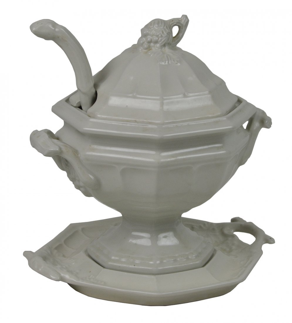 1: RED CLIFF IRONSTONE SOUP TUREEN