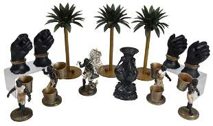 3: TOLE PAINTED BLACKAMOORE GROUPING