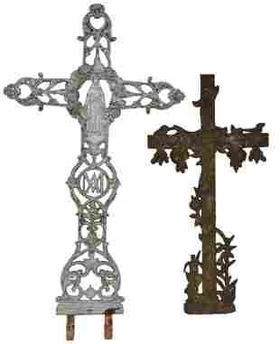 4: FRENCH VICTORIAN FUNERARY CROSSES