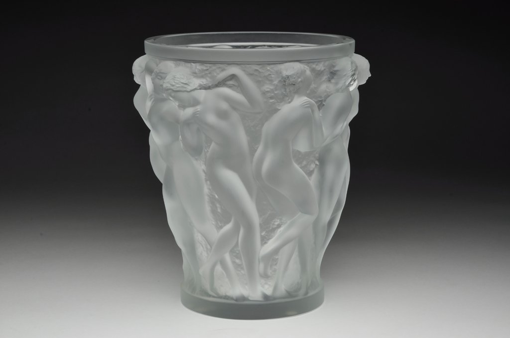 "10: A LALIQUE CRYSTAL ""BACCHANTES"" VASE Designed in the"