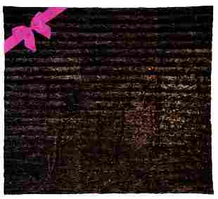 """HERS"" KING SIZE MAHOGANY MINK COVERLET"