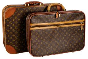 A DUO OF LOUIS VUITTON LUGGAGE