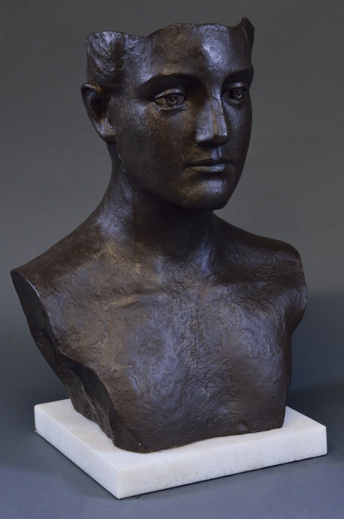 16: A PATINATED BRONZE BUST