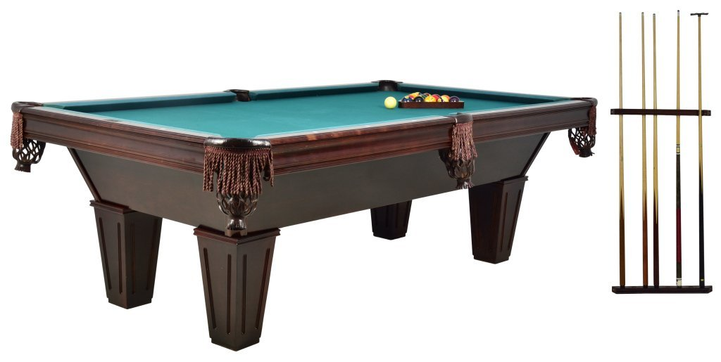 "12: THE ""BRUNSWICK"" POOL TABLE GENTLEMAN'S GROUPING"