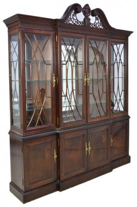 13: A CHIPPENDALE STYLE CHINA CABINET