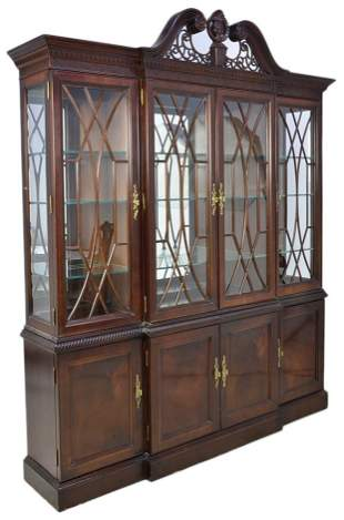 A CHIPPENDALE STYLE CHINA CABINET