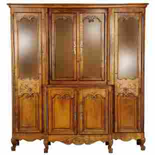 LOUIS XV STYLE BIBLIOTHEQUE DISPLAY CABINET