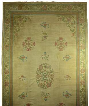 HAND WOVEN OLD CHINESE RUG