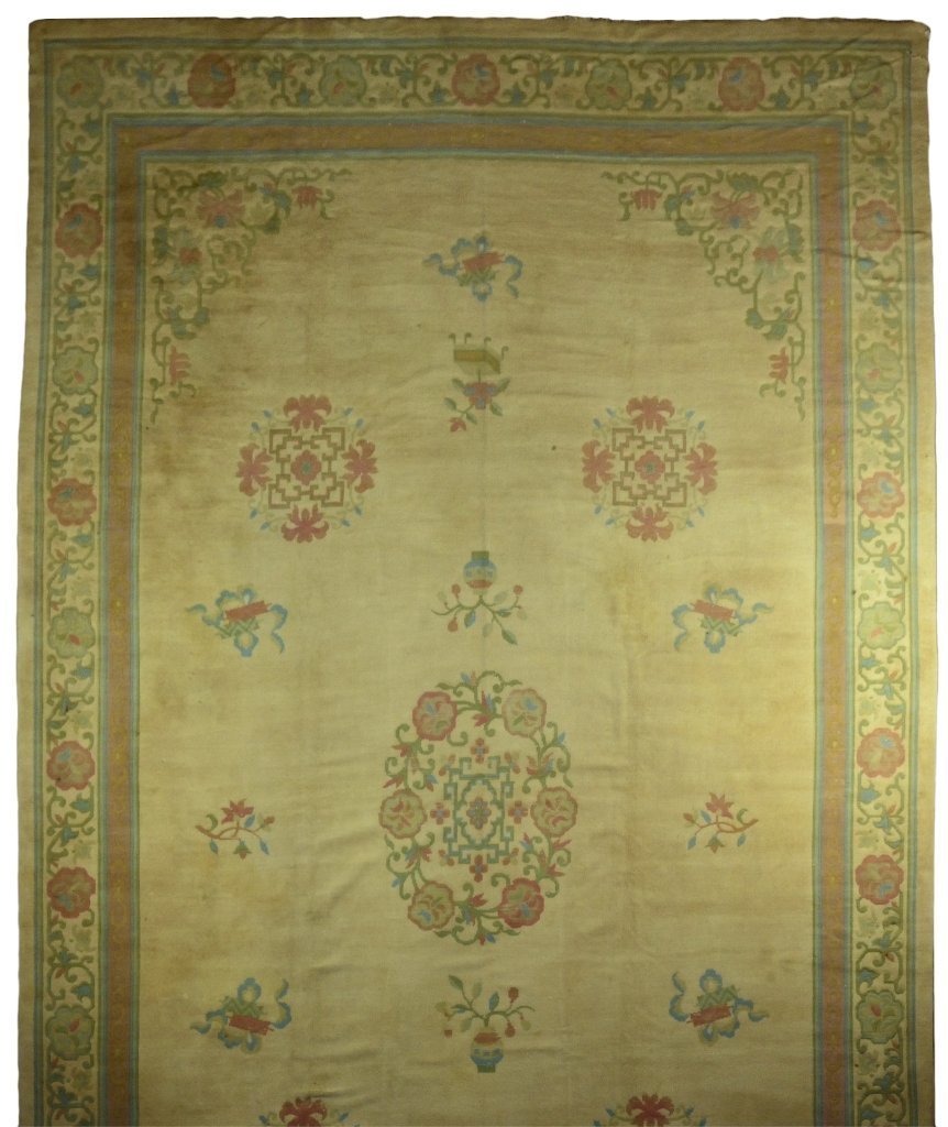 23: HAND WOVEN OLD CHINESE RUG