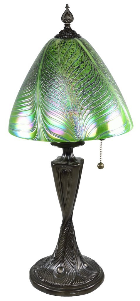 "96: A QUOIZEL ""TIFFANY STYLE"" BUFFET LAMP"