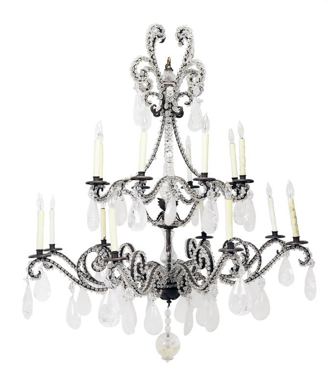 21: AN ELEGANT ITALIAN NEOCLASSICAL STYLE 16-LIGHT TWO