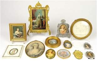 A COLLECTION OF COURT LADIES, PLAQUES AND KING LOUIS XI