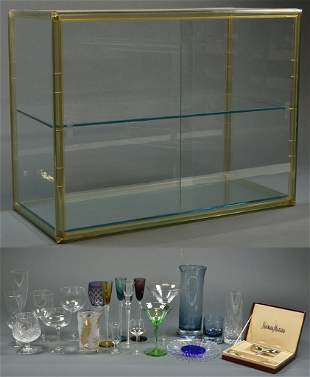 A COLLECTION OF MIXED BARWARE INCLUDING A NEIMAN MARCUS