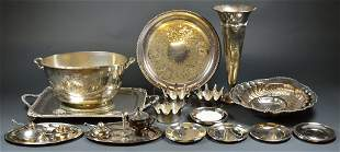 A COLLECTION OF SILVER PLATED HOST ESSENTIALS