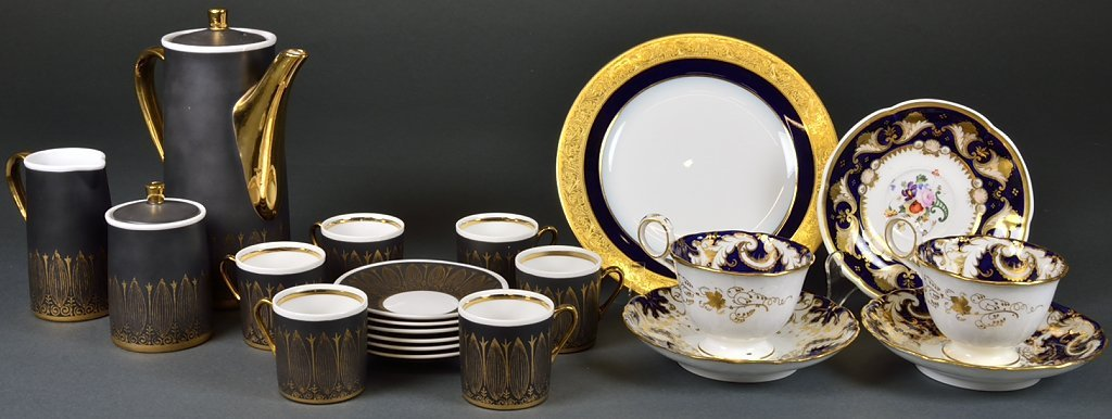 A GROUPING OF FINE CHINA AND PORCELAIN INCLUDES TEA SET