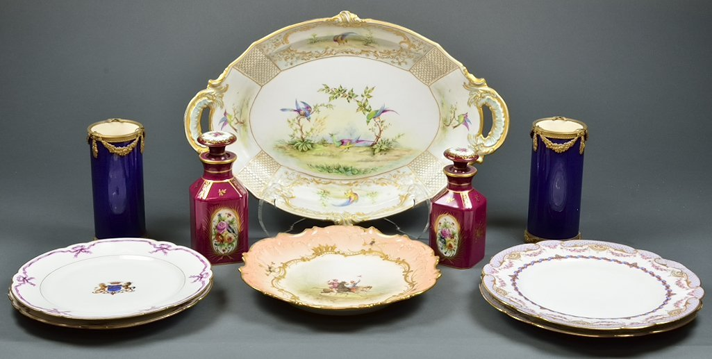 A FINE CHINA COLLECTION WITH NEOCLASSICAL SEVRES VASES